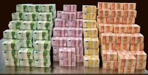 Деньги разного цвета