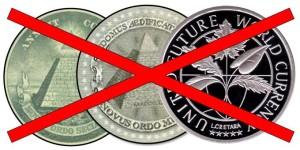 Перечеркнуты монеты