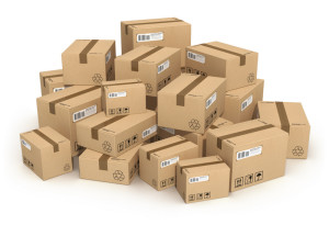 Много коробок