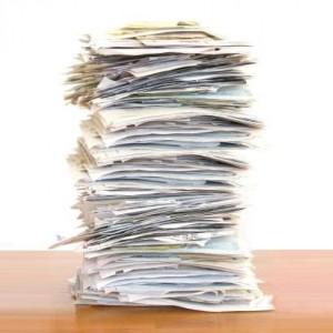 Много бумаги