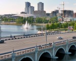Челябинск на мосту