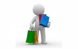 Человек с покупками