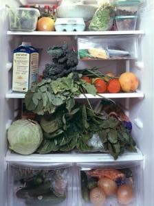 Холодильник с овощами