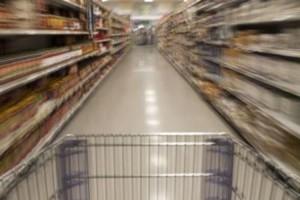 супермаркет и тележка
